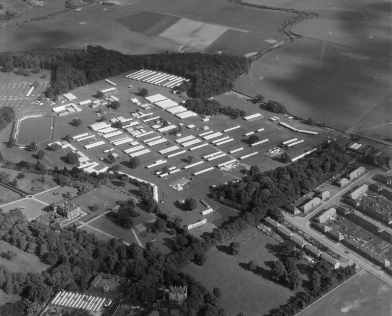 Highland Showground Alloa, Clackmannanshire, Scotland Oblique aerial photograph taken facing SouthWest.