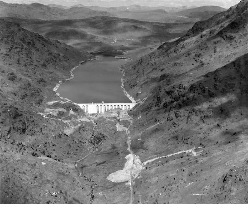 Loch Sloy Hydro Electric Dam Arrochar, Dunbartonshire, Scotland. Oblique aerial photograph taken facing North/West.