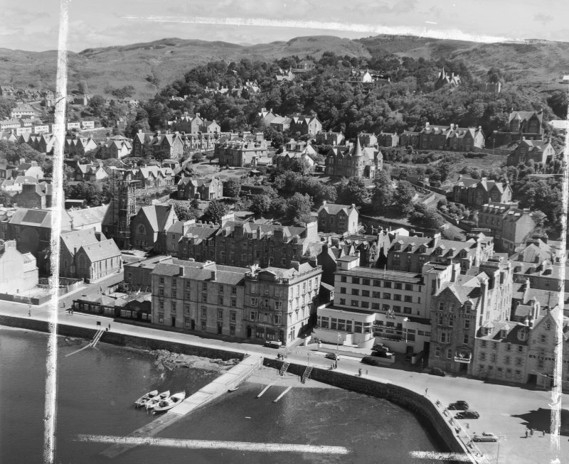 Oban, Regent Hotel, Argyll Hotel, Marine Hotel Kilmore and Kilbride, Argyll, Scotland. Oblique aerial photograph taken facing North/East. This image was marked by AeroPictorial Ltd for photo editing.