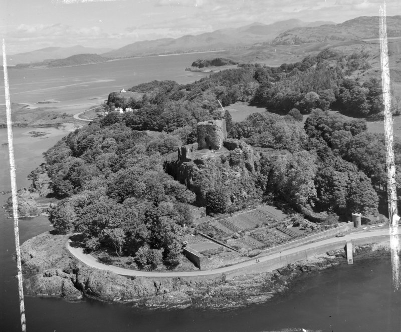 Oban, Dungallon Castle Kilmore and Kilbride, Argyll, Scotland. Oblique aerial photograph taken facing North/East. This image was marked by AeroPictorial Ltd for photo editing.
