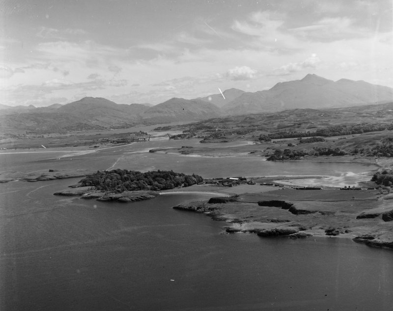 North of Oban looking to Loch Etive Kilmore and Kilbride, Argyll, Scotland. Oblique aerial photograph taken facing East.