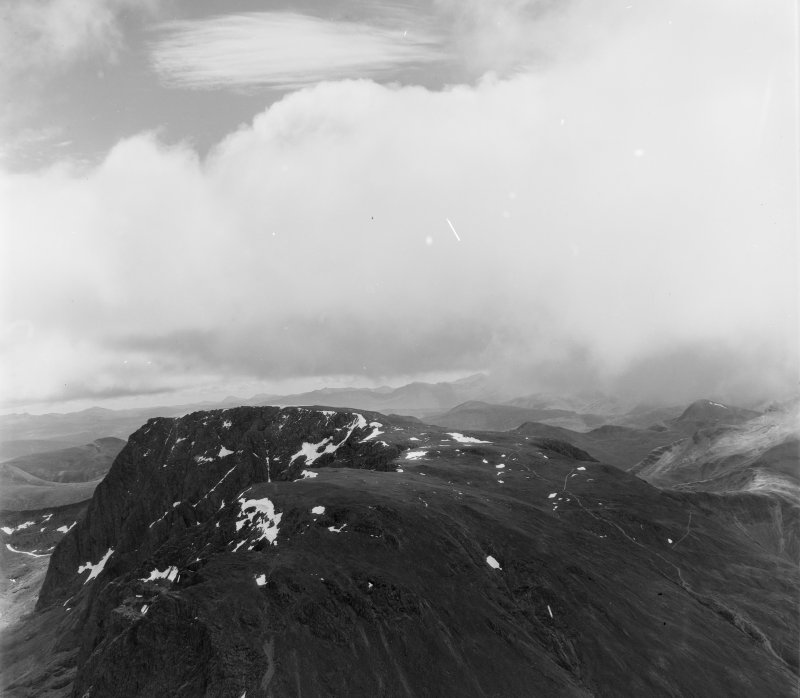 Ben Nevis Kilmallie, Inverness-Shire, Scotland. Oblique aerial photograph taken facing South/East.