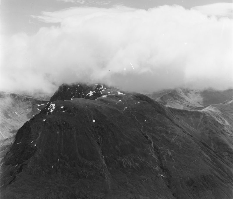 Ben Nevis Kilmallie, Inverness-Shire, Scotland. Oblique aerial photograph taken facing East.