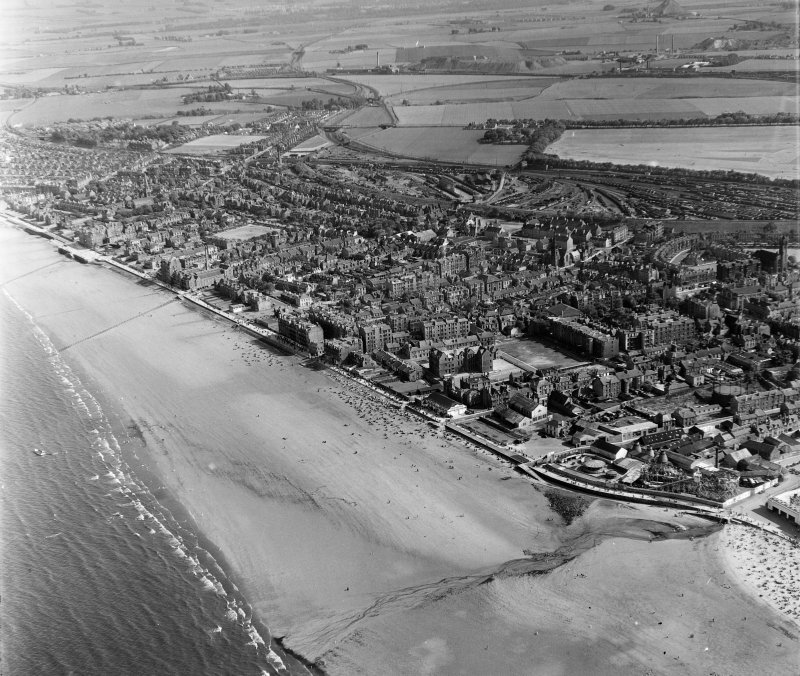 Portobello Edinburgh, Midlothian, Scotland. Oblique aerial photograph taken facing South.