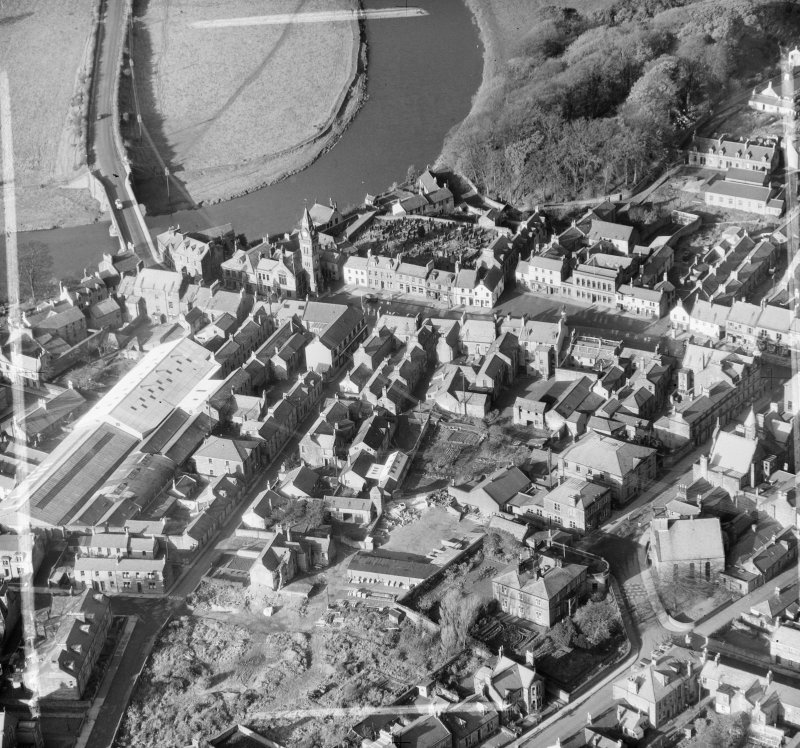 General View Annan, Dumfries-Shire, Scotland. Oblique aerial photograph taken facing North/West. This image was marked by AeroPictorial Ltd for photo editing.