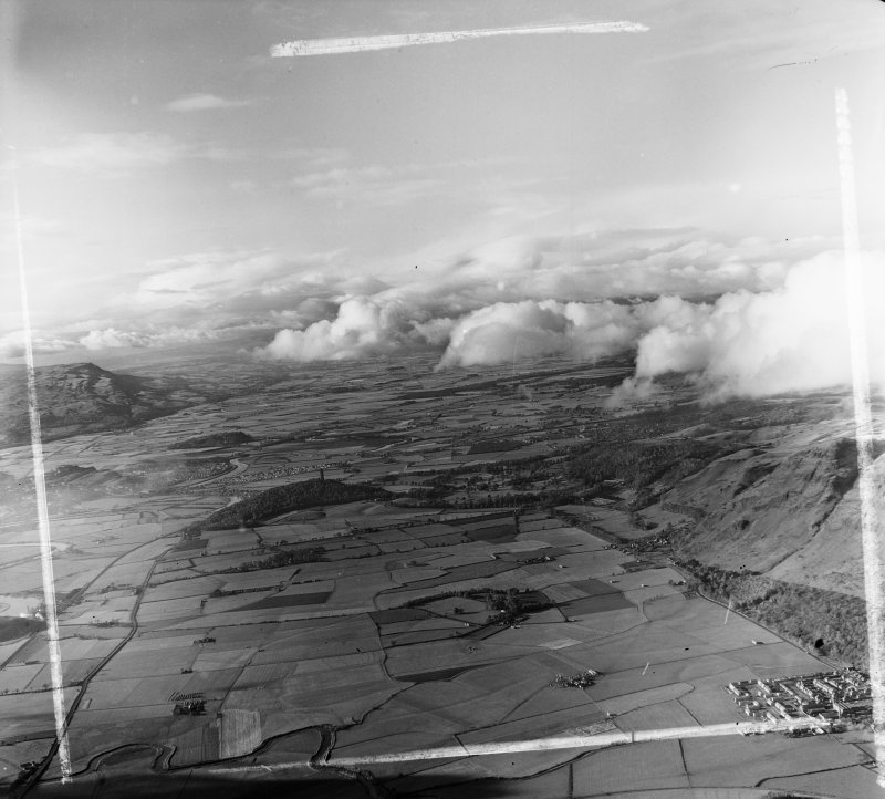Vale of Forth with the Wallace Monument Logie, Stirlingshire, Scotland. Oblique aerial photograph taken facing West. This image was marked by AeroPictorial Ltd for photo editing.