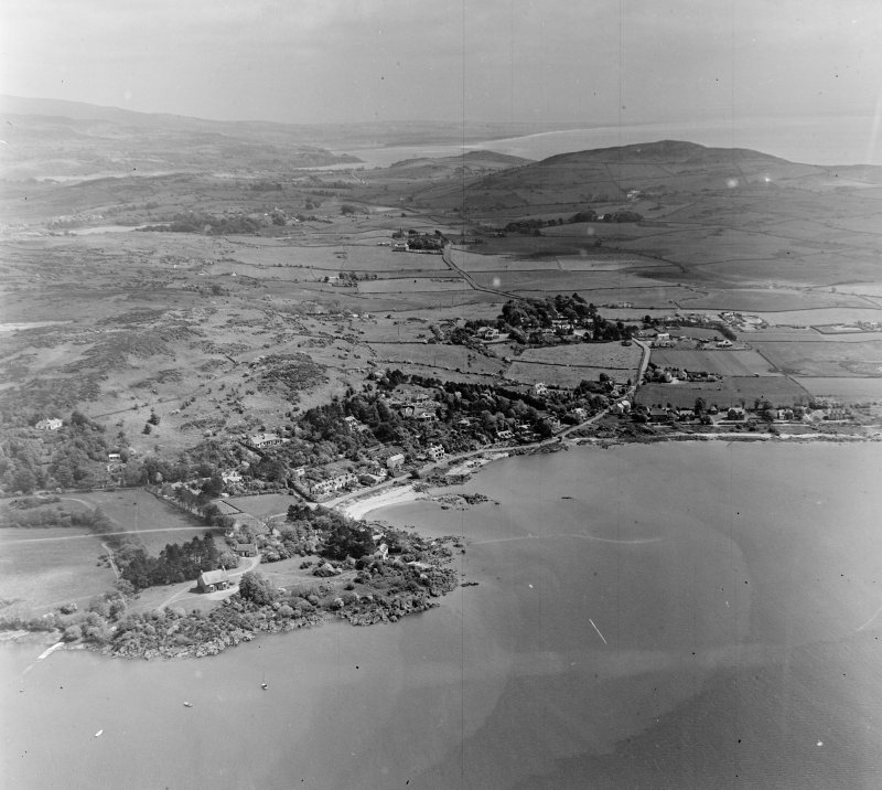 Rockcliffe Colvend and Southwick, Kirkcudbrightshire, Scotland. Oblique aerial photograph taken facing East.