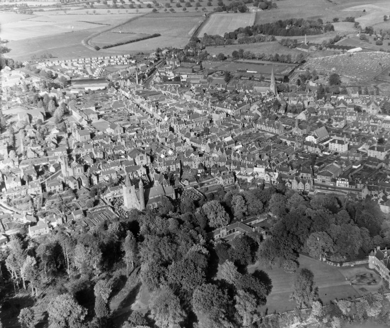 General View Brechin, Angus, Scotland. Oblique aerial photograph taken facing North.