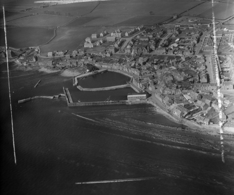 General View St Monance, Fife, Scotland. Oblique aerial photograph taken facing North/West. This image was marked by AeroPictorial Ltd for photo editing.