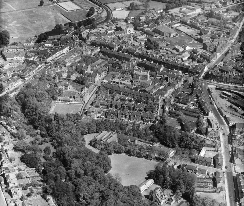 General View Hamilton, Lanarkshire, Scotland. Oblique aerial photograph taken facing North/East.
