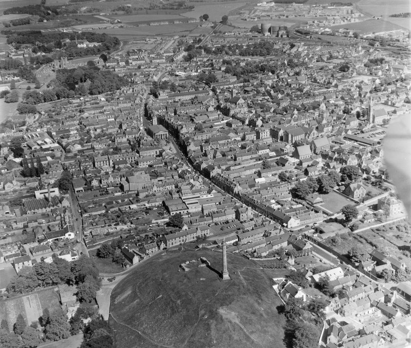 General View Elgin, Morayshire, Scotland. Oblique aerial photograph taken facing East.