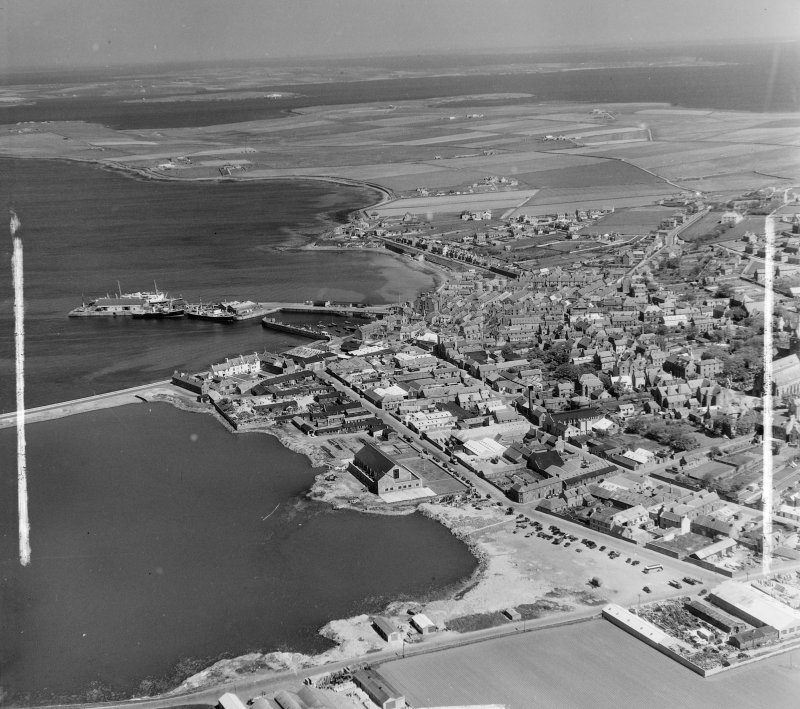 General View Kirkwall and St Ola, Orkney, Scotland. Oblique aerial photograph taken facing North/East. This image was marked by AeroPictorial Ltd for photo editing.