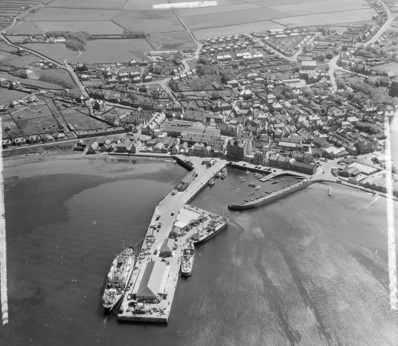 General View Kirkwall and St Ola, Orkney, Scotland. Oblique aerial photograph taken facing South/East. This image was marked by AeroPictorial Ltd for photo editing.