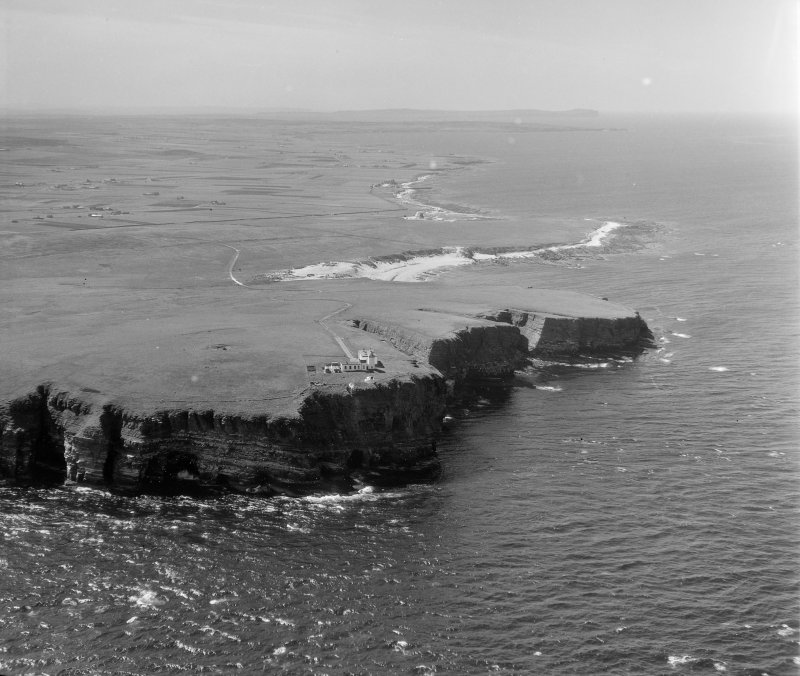 Duncansby Head Canisbay, Caithness, Scotland. Oblique aerial photograph taken facing West.