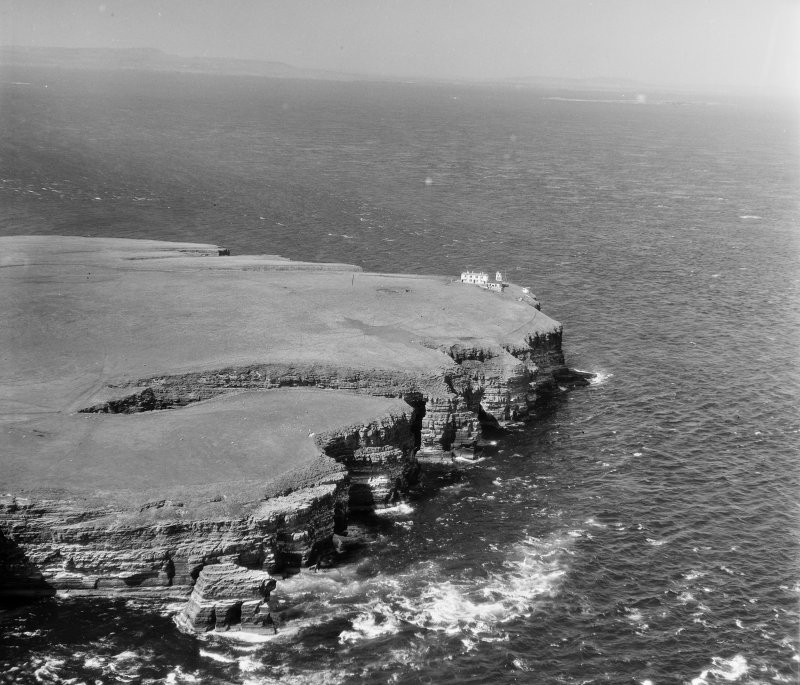 Duncansby Head Canisbay, Caithness, Scotland. Oblique aerial photograph taken facing North.