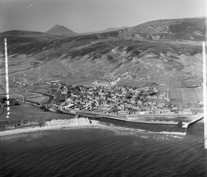 Helmsdale Kildonan, Sutherland, Scotland. Oblique aerial photograph taken facing North. This image was marked by AeroPictorial Ltd for photo editing.