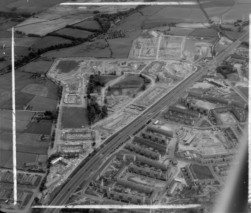 Easterhouse Estate Old Monkland, Lanarkshire, Scotland. Oblique aerial photograph taken facing North/East. This image was marked by AeroPictorial Ltd for photo editing.