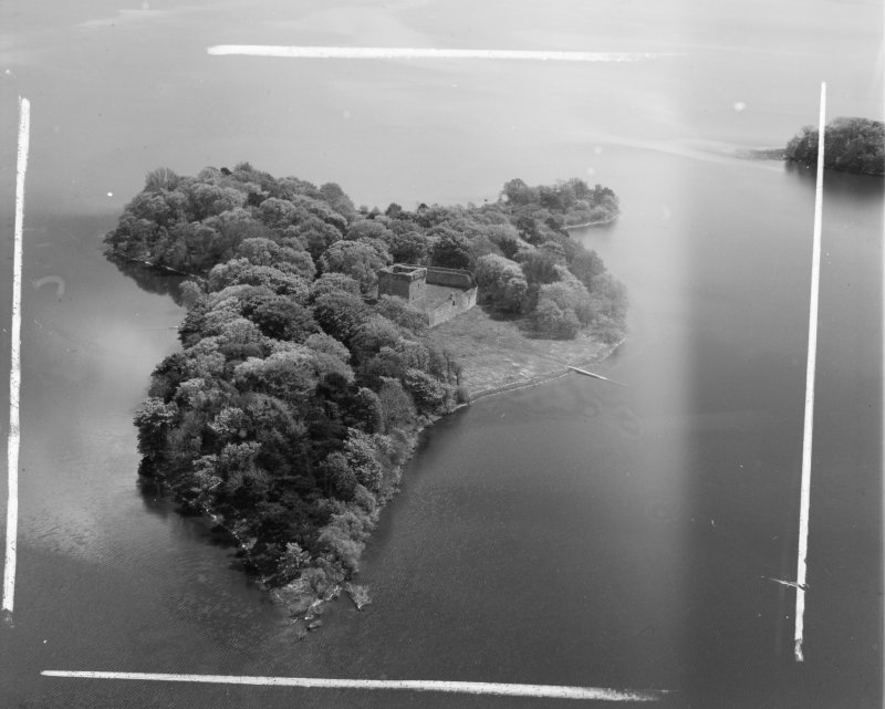 Loch Leven Castle Kinross, Kinross, Scotland. Oblique aerial photograph taken facing South/East. This image was marked by AeroPictorial Ltd for photo editing.