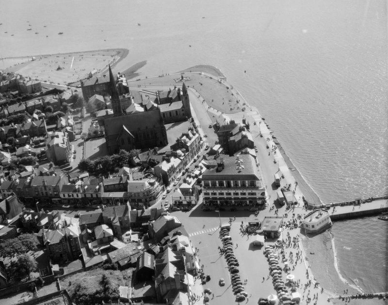 General View Largs, Ayrshire, Scotland. Oblique aerial photograph taken facing South.