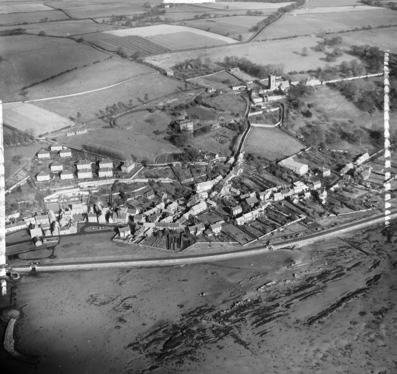 General View Culross, Fife, Scotland. Oblique aerial photograph taken facing North. This image was marked by AeroPictorial Ltd for photo editing.