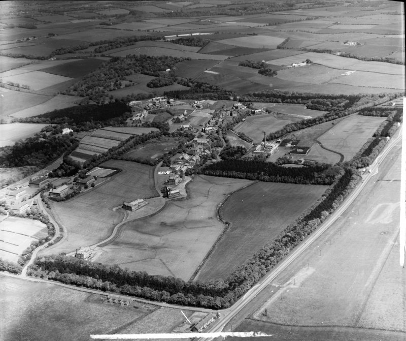 Bangour Hospital Ecclesmachan, West Lothian, Scotland. Oblique aerial photograph taken facing North/East. This image was marked by AeroPictorial Ltd for photo editing.