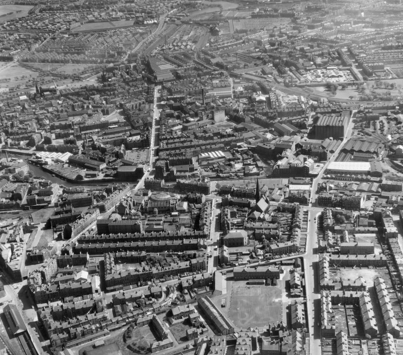Leith Edinburgh, Midlothian, Scotland. Oblique aerial photograph taken facing South/East.