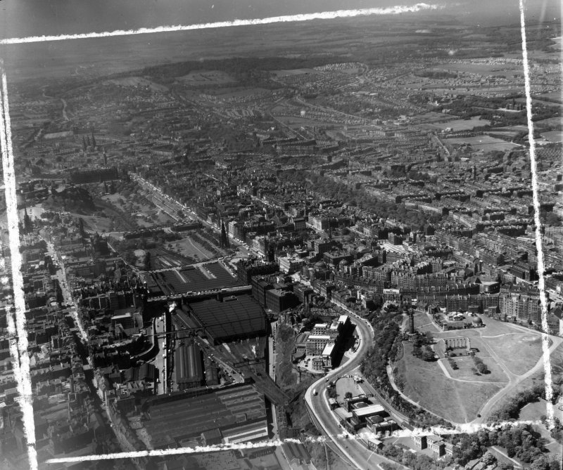 General View Edinburgh, Midlothian, Scotland. Oblique aerial photograph taken facing West. This image was marked by AeroPictorial Ltd for photo editing.