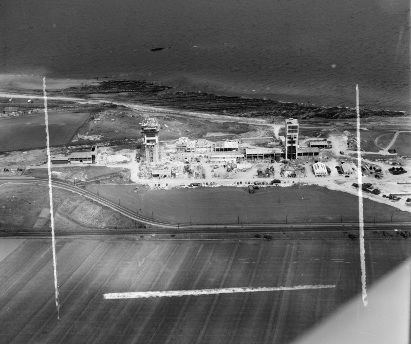 General View Kinghorn, Fife, Scotland. Oblique aerial photograph taken facing North/East. This image was marked by AeroPictorial Ltd for photo editing.