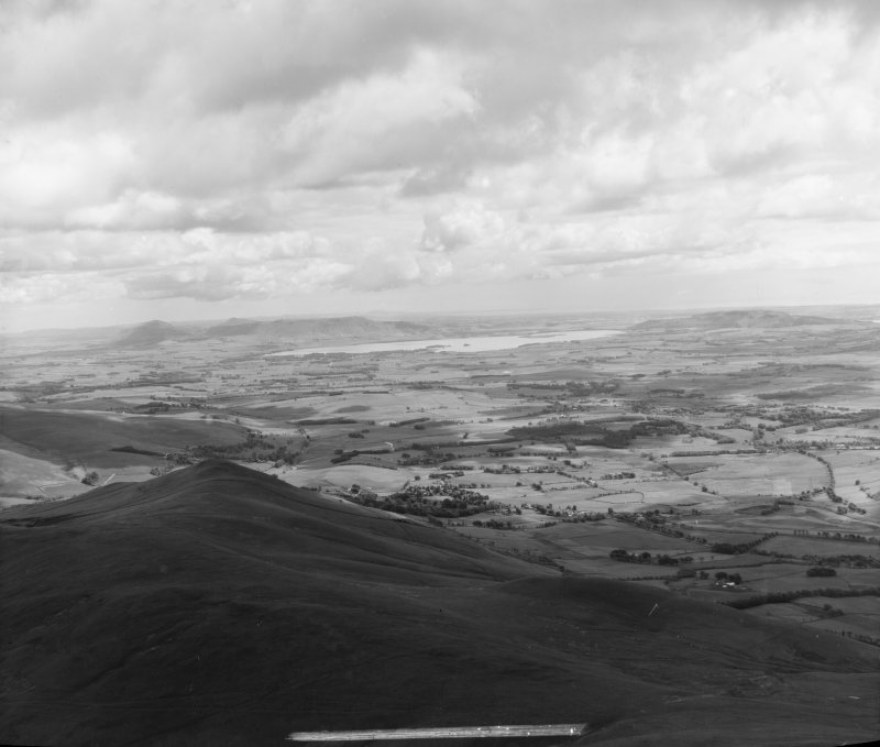 Loch Leven from over Ochil Hills Muckhart, Fifeshire, Scotland Oblique aerial photograph taken facing East.
