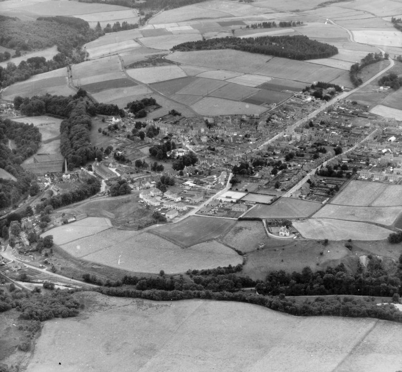 General View Mortlach, Banff, Scotland. Oblique aerial photograph taken facing South/West.