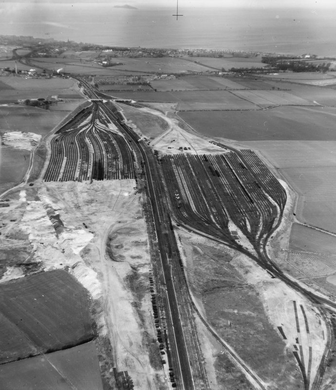 General View, Edinburgh, Midlothian, Scotland. Oblique aerial photograph taken facing North.