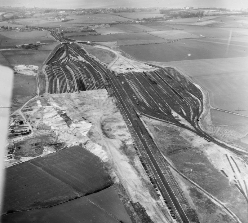 General View,Edinburgh, Midlothian, Scotland. Oblique aerial photograph taken facing North.