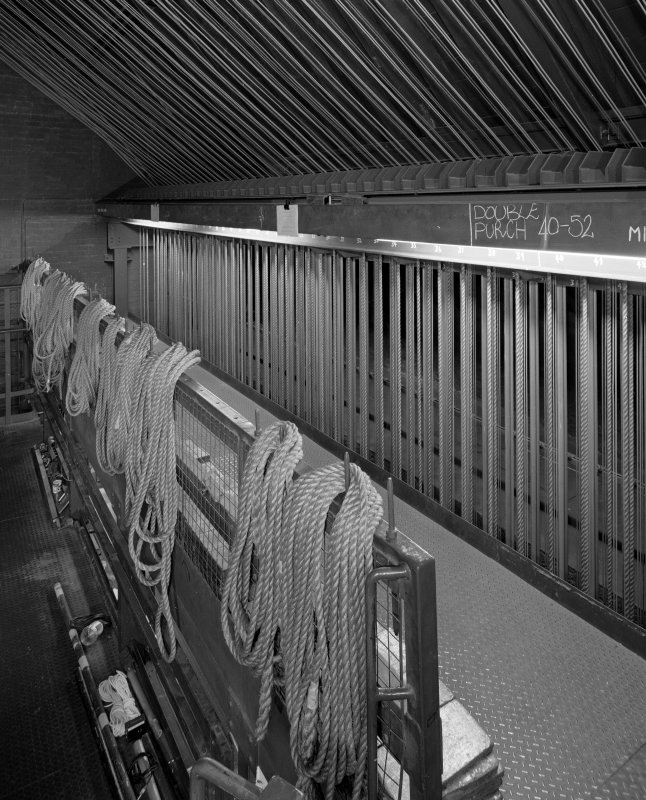 Aberdeen, Rosemount Viaduct, His Majesty's Theatre. Interior, fly tower, view of modern fly control system.