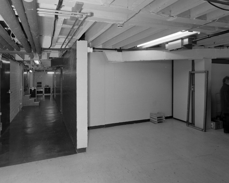 Aberdeen, Rosemount Viaduct, His Majesty's Theatre. Interior, backstage area, view of pit corridor.