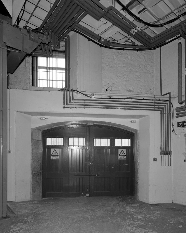 Aberdeen, Rosemount Viaduct, His Majesty's Theatre. Interior, backstage area, view of scenery entrance.