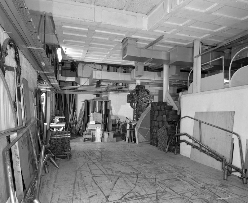 Aberdeen, Rosemount Viaduct, His Majesty's Theatre. Interior, scenery storage area, view from North.