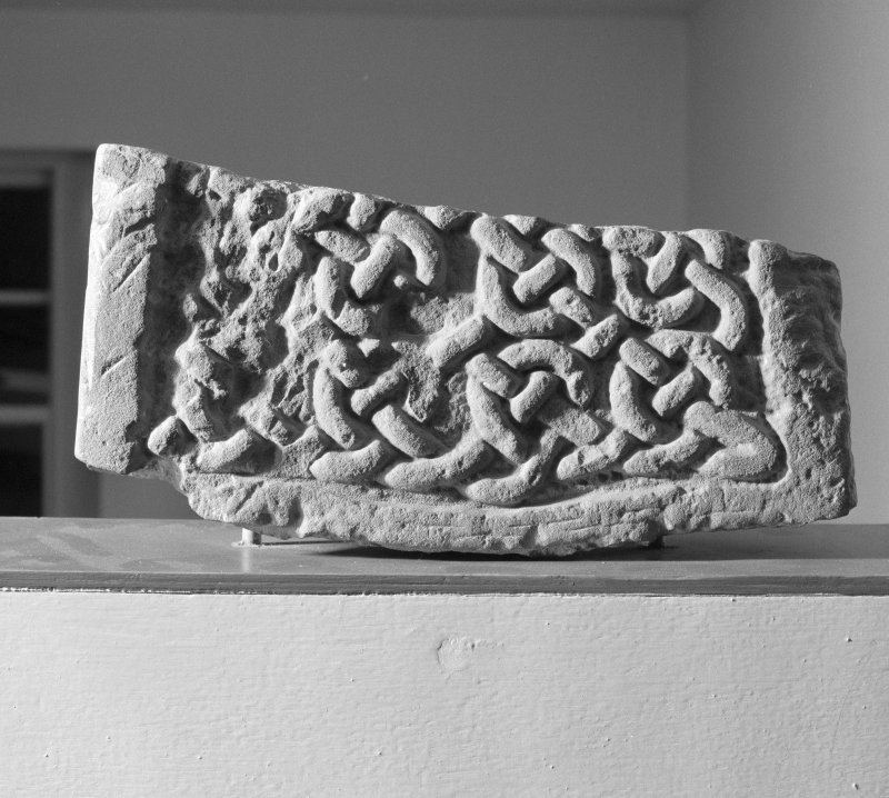View of face of Pictish cross-slab fragment (St Vigeans no.6).