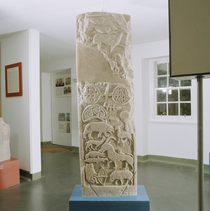 View of reverse of the Drosten Stone Pictish cross-slab (St Vigeans no.1).