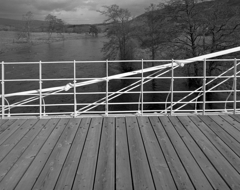 The Old Bridge of Oich Detail of guard rail and decking