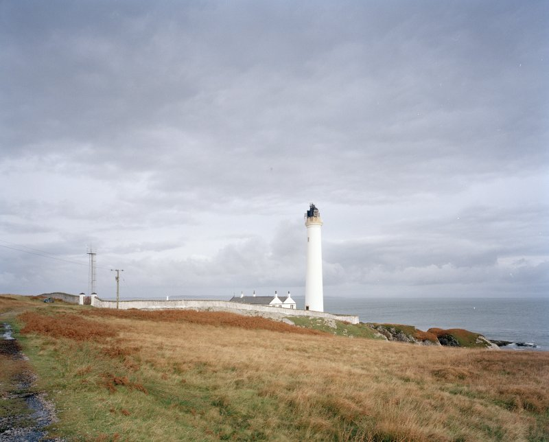 Islay, Rudh A' Mhail, Rhuvaal Lighthouse General view of lighthouse and compound from S