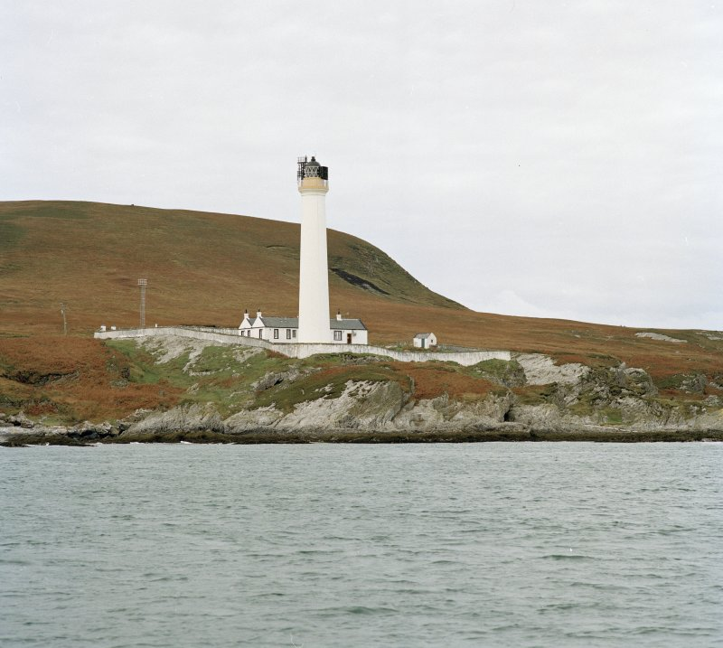 Islay, Rudh A' Mhail, Rhuvaal Lighthouse General view of the lighthouse and compound from E (from the sea)