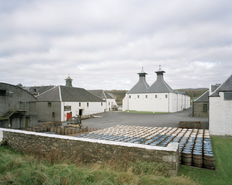 Ardbeg Distillery General view from SE of two kilns at S end of E maltings, the two kilns having recently been converted into a Visitors Centre following the takeover by Glenmorangie