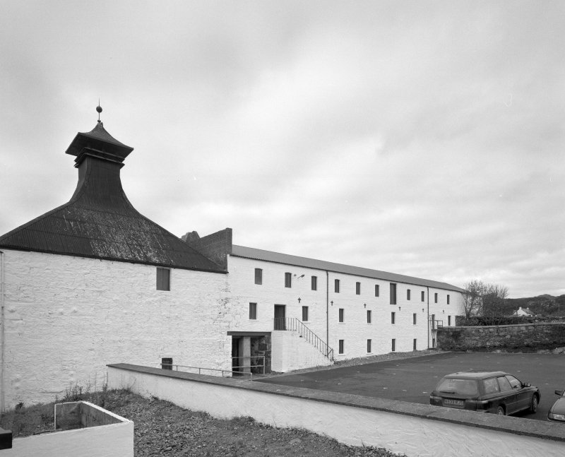 Ardbeg Distillery View from E of E side of W maltings block and kiln (left), currently disused