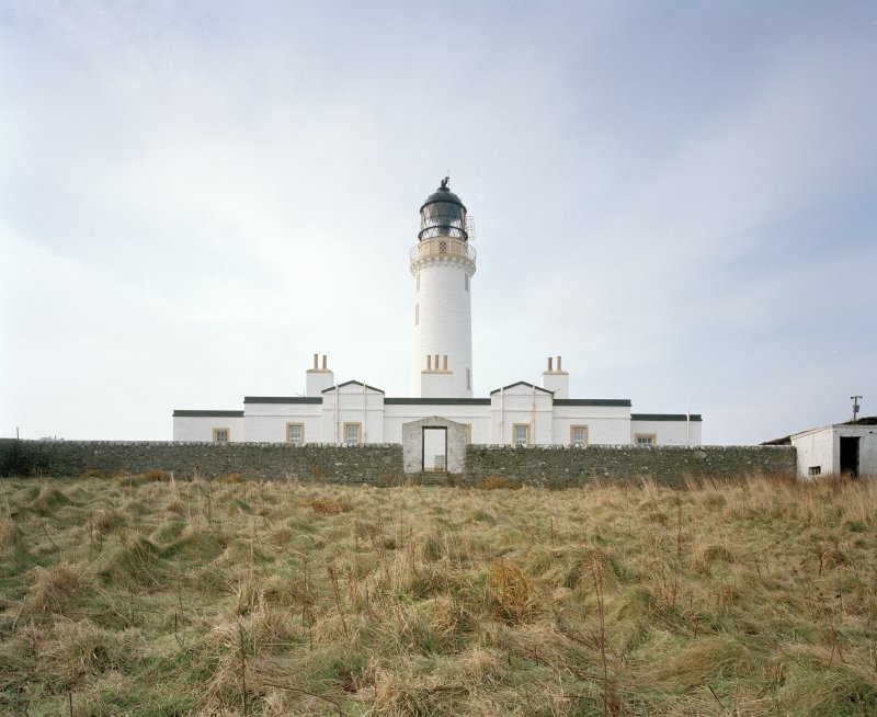 View from NE of NE side of lighthouse compound, taken from within lower compound (probably previously a walled garden).