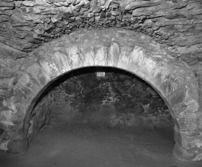 Interior. View of kitchen fireplace.