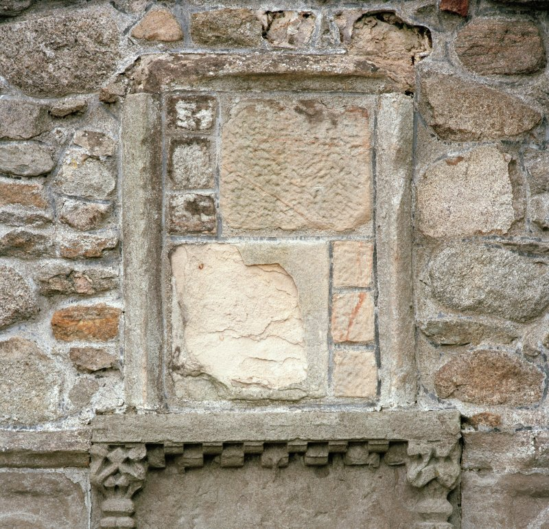 Detail of sacrament house, showing frame of lost upper panel.