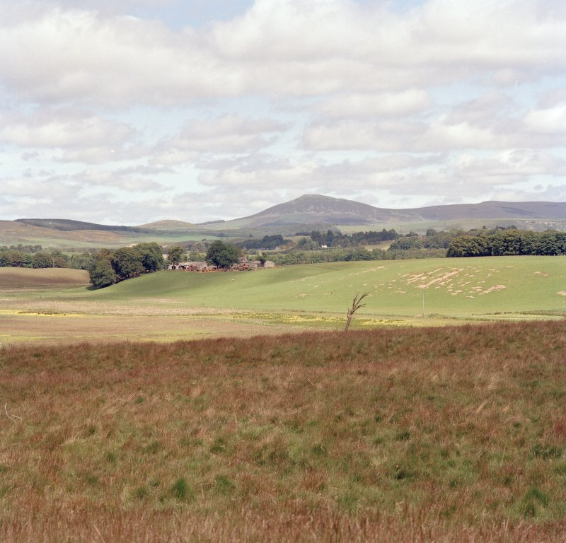 Tap o' Noth, vitrified fort: distant view. General view of Upper Strathbogie, looking N from Lulach's Stone.