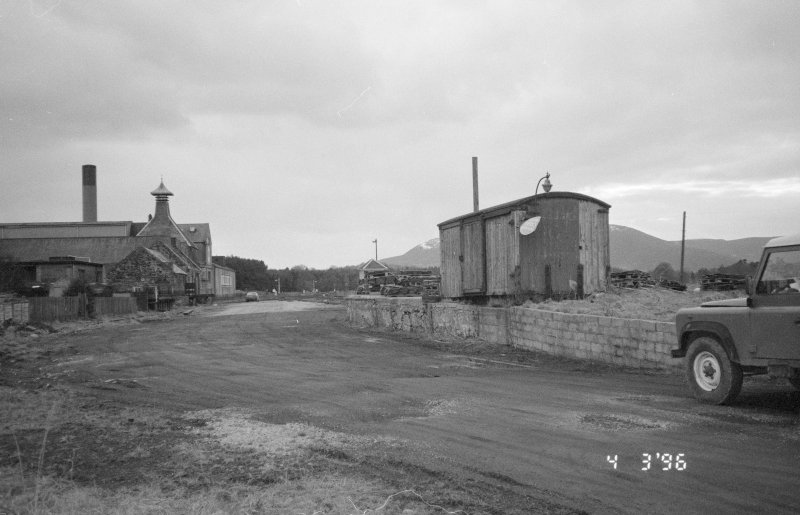 View from a point S of the main station building looking W towards the Ardmore distillery