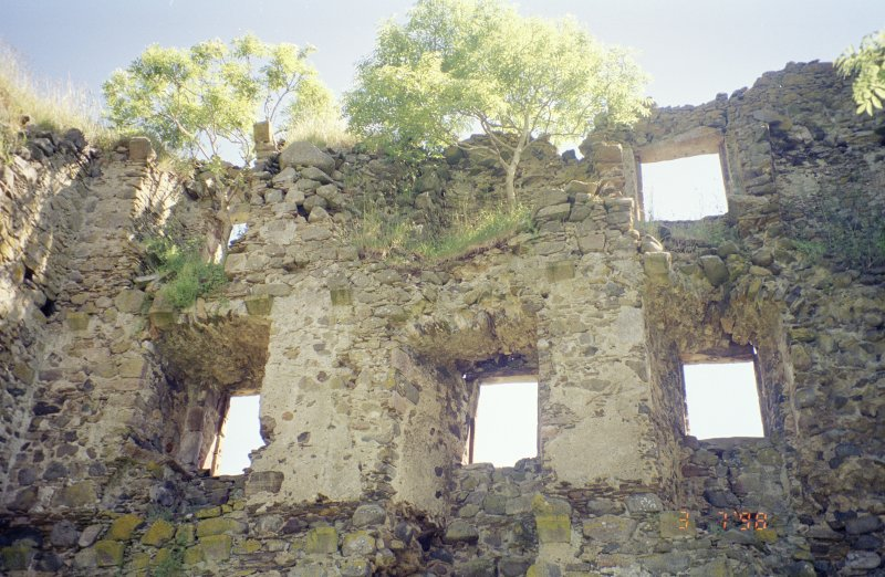Interior view of SE wall