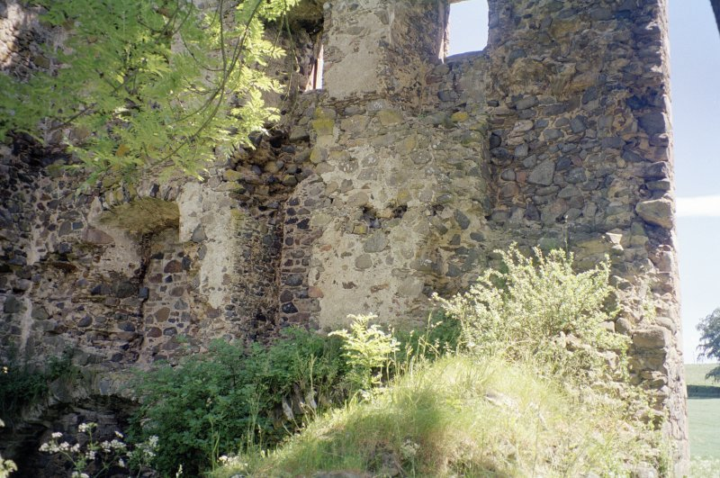General view of inner face of SE wall of tower